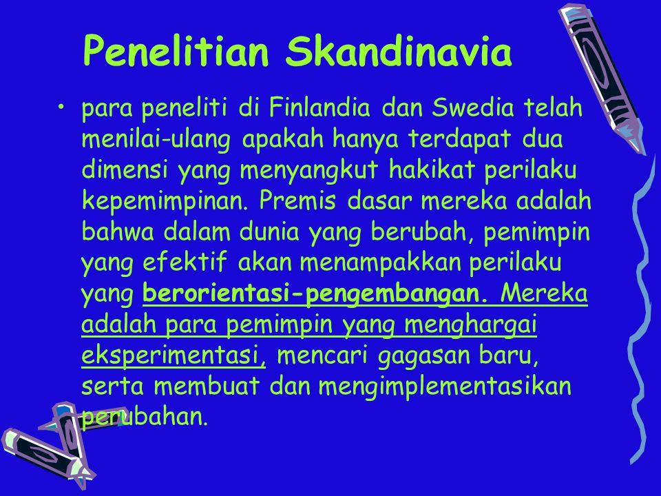 Penelitian Skandinavia para peneliti di Finlandia dan Swedia telah menilai-ulang apakah hanya terdapat dua dimensi yang menyangkut hakikat perilaku ke