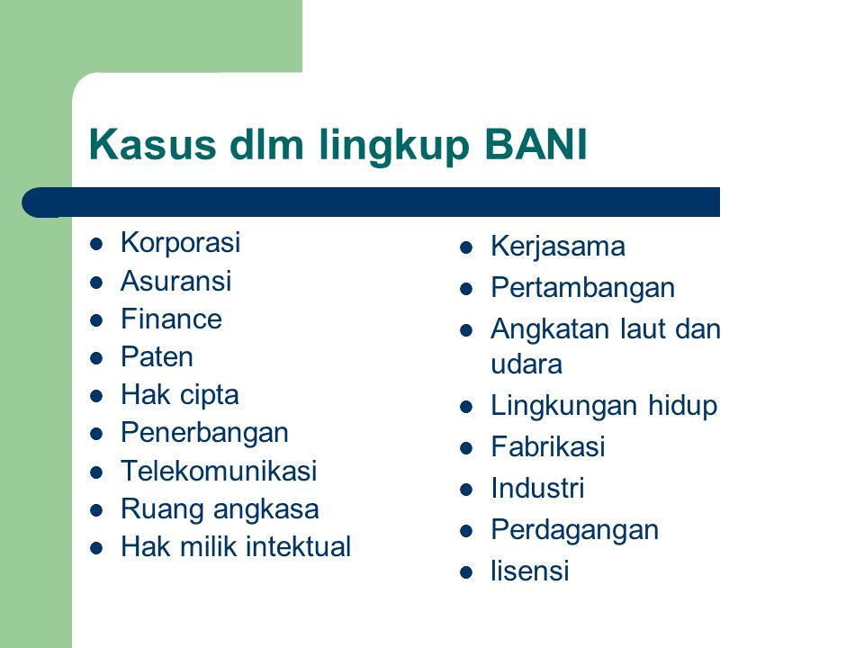 Prosedur Penyelesaian Sengketa Badan Arbitrase Nasional Indonesia