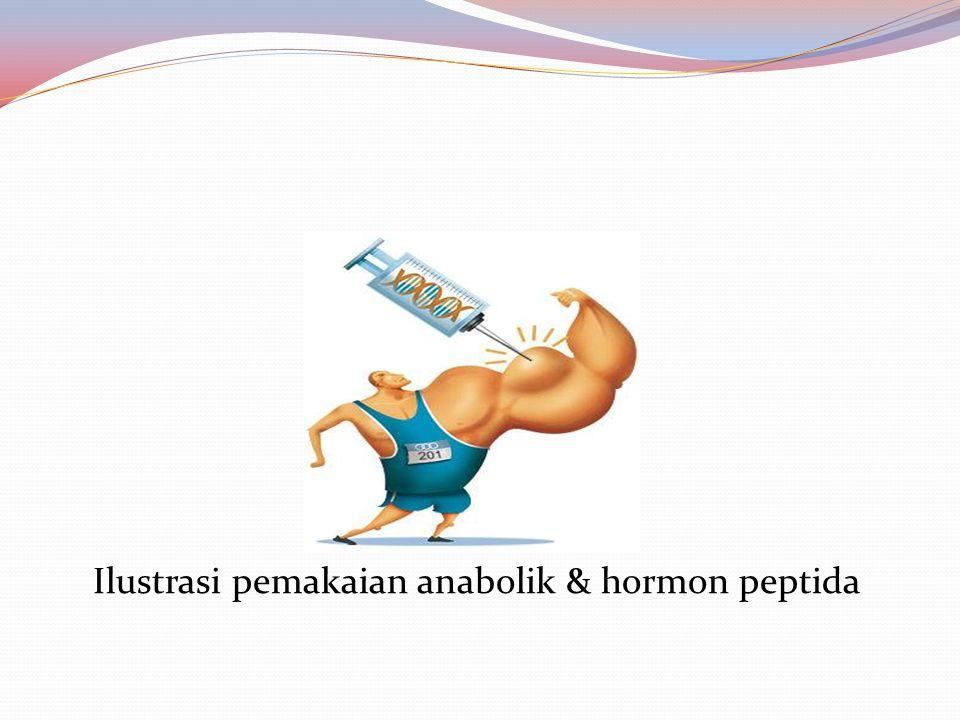 5.Hormone Peptida Contoh: Eritropoietin, hormon pertumbuhan manusia, insulin, corticotrophins.Hormon Peptida, dilarang karena merangsang berbagai fungsi tubuh seperti pertumbuhan, perilaku dan sensitifitas terhadap rasa sakit.