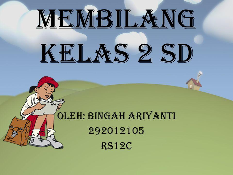 Membilang kelas 2 SD Oleh: Bingah Ariyanti 292012105 RS12C
