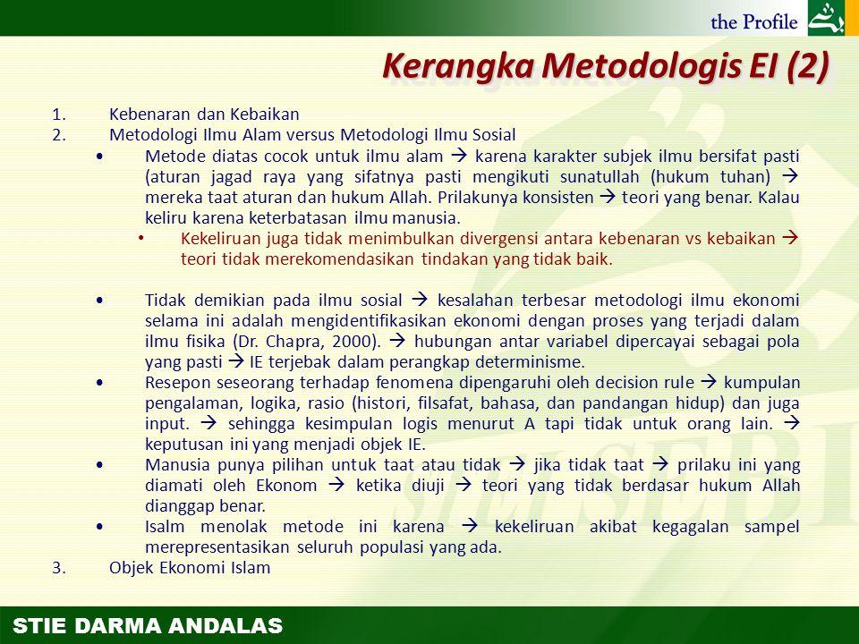 STIE DARMA ANDALAS 1.Kebenaran dan Kebaikan 2.Metodologi Ilmu Alam versus Metodologi Ilmu Sosial Metode diatas cocok untuk ilmu alam  karena karakter