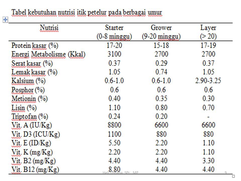 Kebutuhan Nutrisi Itik Pedaging 10Heli Tistiana, SPt., MP