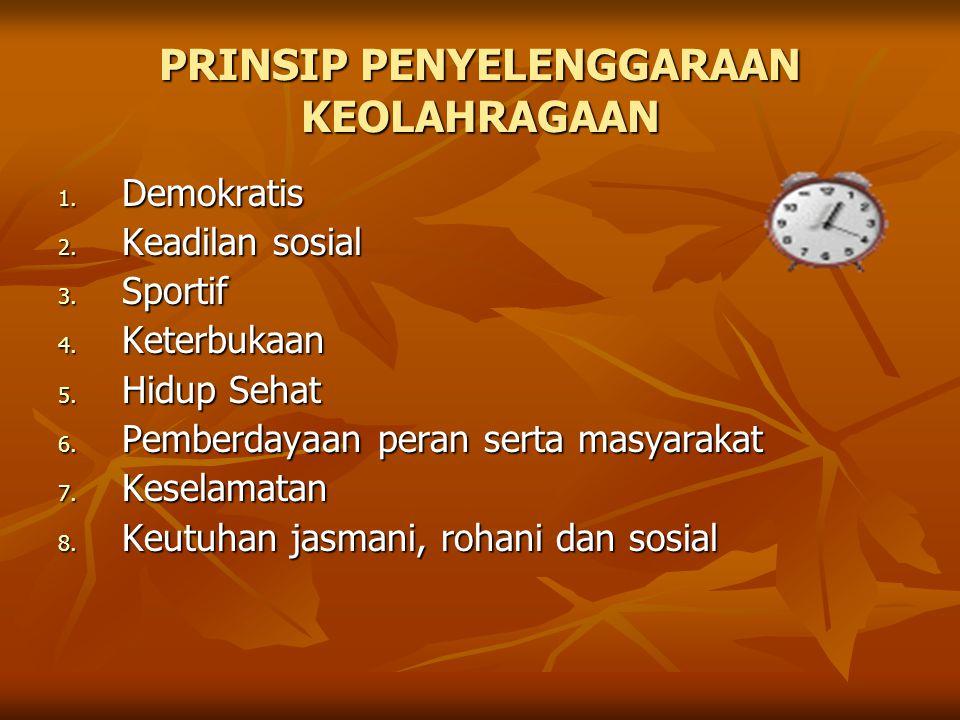 KEBIJAKAN OLAHRAGA 1. Kemenegpora (Deklarasi Yogyakarta 04) 2.