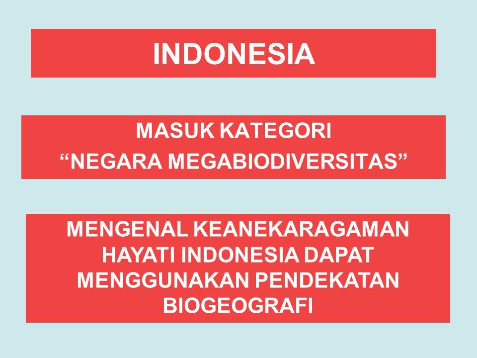 INDONESIA MASUK KATEGORI NEGARA MEGABIODIVERSITAS MENGENAL KEANEKARAGAMAN HAYATI INDONESIA DAPAT MENGGUNAKAN PENDEKATAN BIOGEOGRAFI