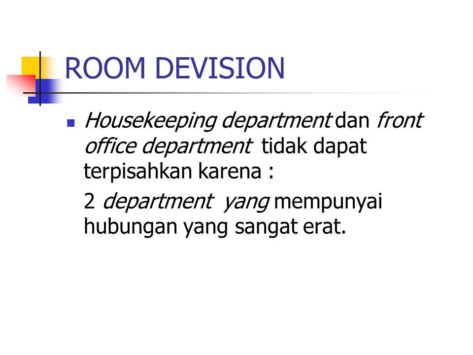 LINEN SECTION Linen section adalah : bagian yang mempunyai tugas dan tanggung jawab atas semua lena hotel tersebut.