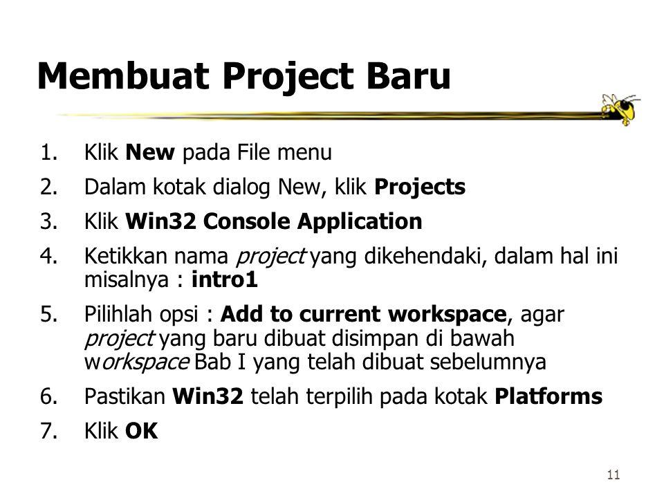 10 Membuat Workspace Baru(2) Kotak dialog untuk New Workspaces