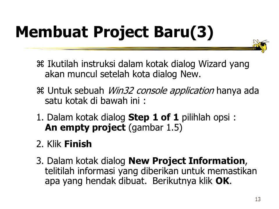 12 Membuat Project Baru(2) Kotak dialog untuk New Projects