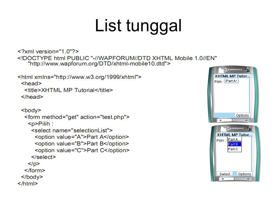 List tunggal