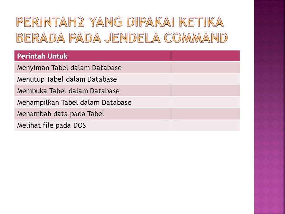  Buat Project Baru dengan nama MAKEDATA  Buat Tabel MHS.DBF