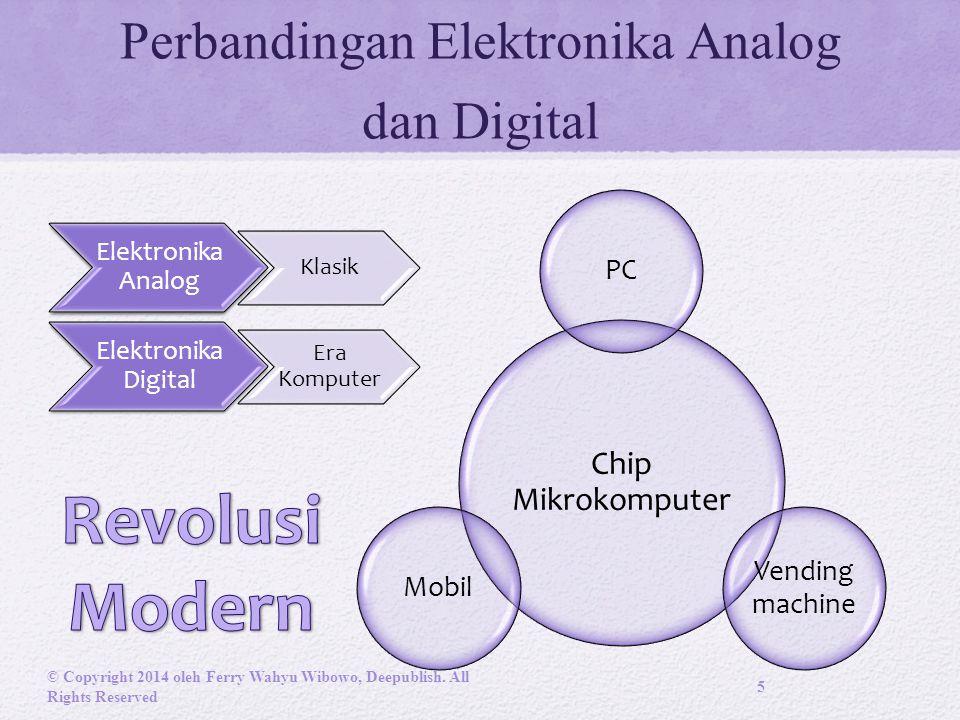 Perbandingan Elektronika Analog dan Digital Chip Mikrokomputer PC Vending machine Mobil © Copyright 2014 oleh Ferry Wahyu Wibowo, Deepublish.
