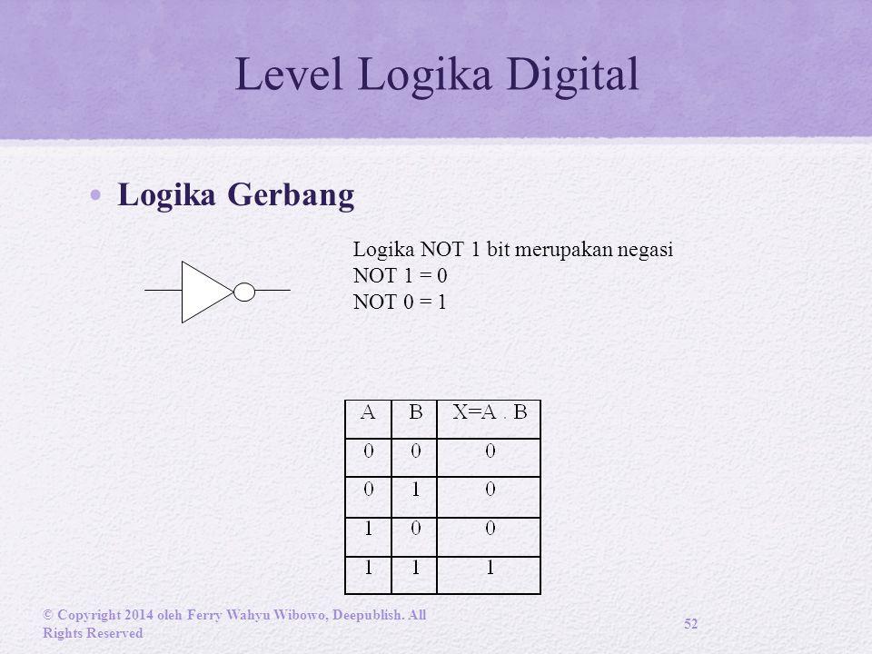 Level Logika Digital Logika Gerbang © Copyright 2014 oleh Ferry Wahyu Wibowo, Deepublish.