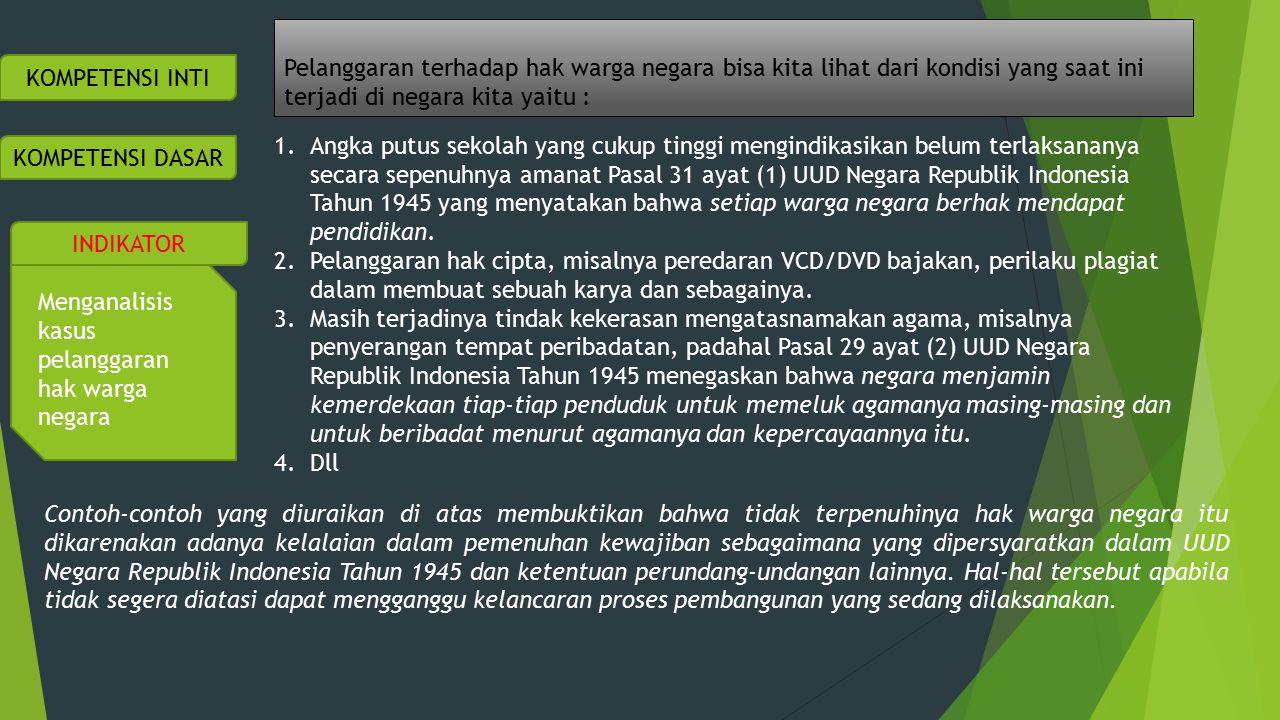 TUGAS Bacalah Sebuah Kasus Tentang Banyaknya Kasus Putus Sekolah Di Indonesia Yang Tersedia Dalam Buku Siswa Hal 10 Setelah membaca kasus di atas diskusikanlah dengan teman sebangkumu pertanyaan-pertanyaan di bawah ini.