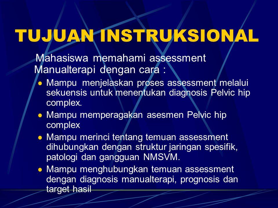 TES KHUSUS LAIN Hip flexion test for Sacroiliac (hip flex pelvic nutation), Piriformis m (hip flex- add-internal rot), hip joint (Patric's test).