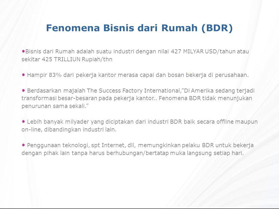 Bisnis dari Rumah adalah suatu industri dengan nilai 427 MILYAR USD/tahun atau sekitar 425 TRILLIUN Rupiah/thn Hampir 83% dari pekerja kantor merasa c