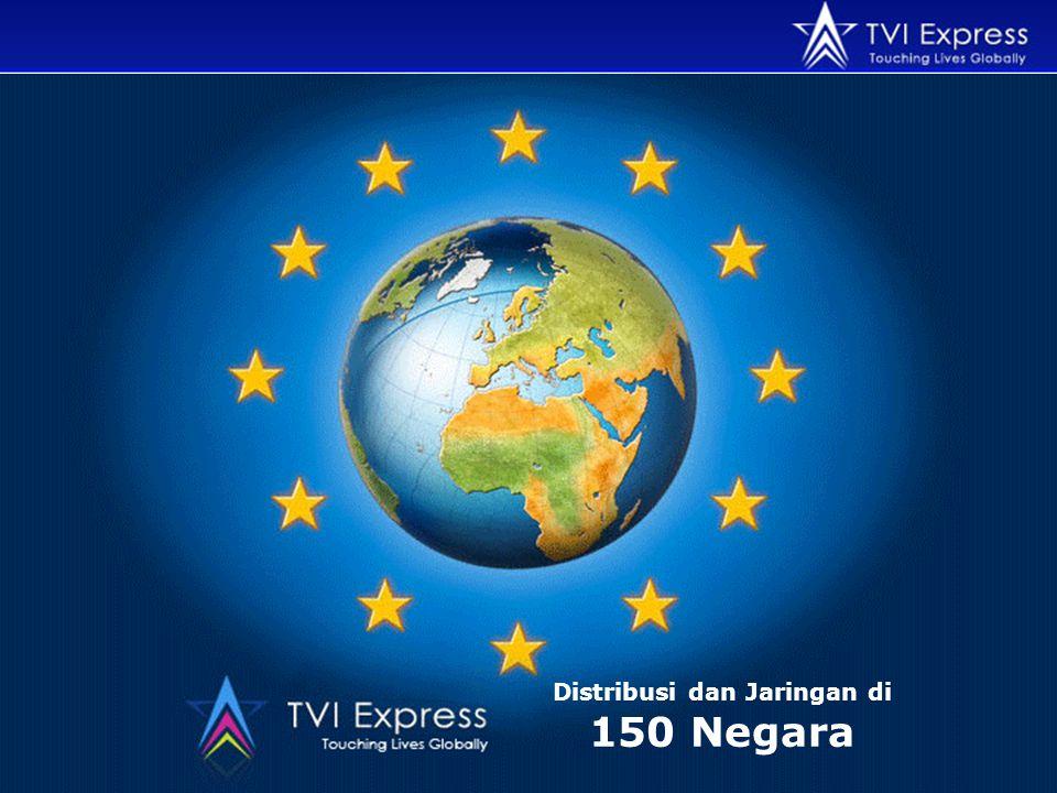 Distribusi dan Jaringan di 150 Negara