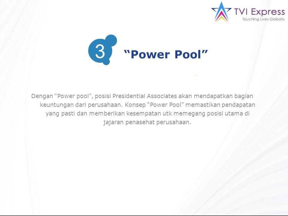 """Dengan """"Power pool"""", posisi Presidential Associates akan mendapatkan bagian keuntungan dari perusahaan. Konsep """"Power Pool"""" memastikan pendapatan yang"""