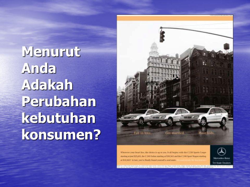 Menurut Anda Adakah Perubahan kebutuhan konsumen?
