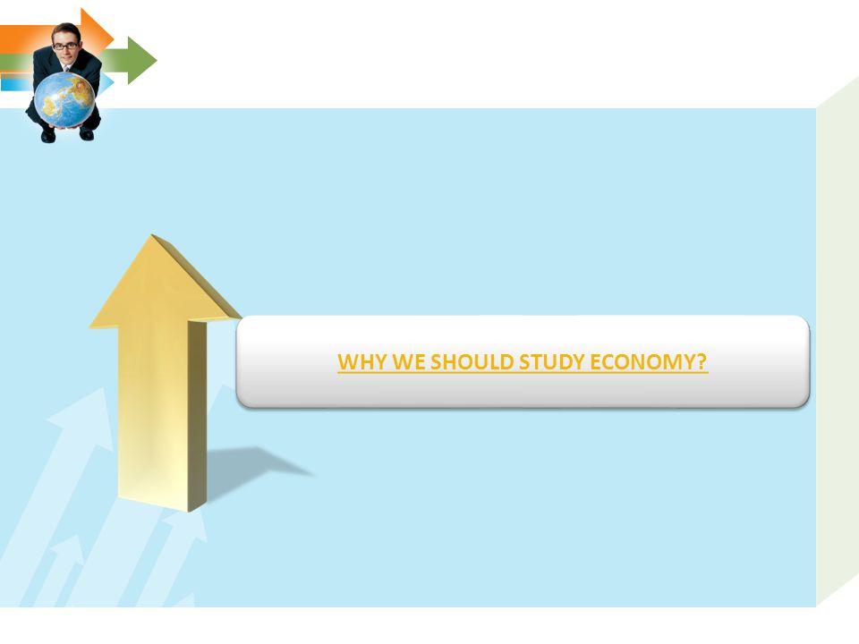 WHY WE SHOULD STUDY ECONOMY?