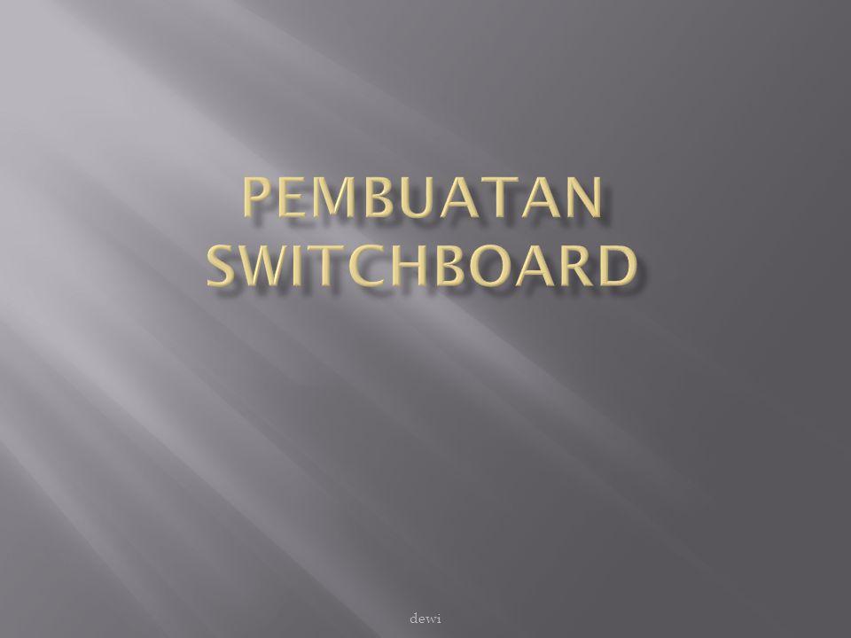 Switchboard adalah sebuah form yang berfungsi sebagai pengendali terhadap sejumlah kegiatan dalam suatu aplikasi.