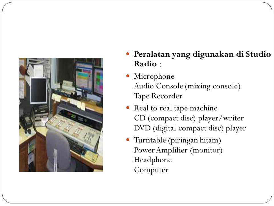 EDITING PROGRAM RADIO Electronic Digital Audio-Editing Cara membuka Adobe Audition 1,5, dan 2.