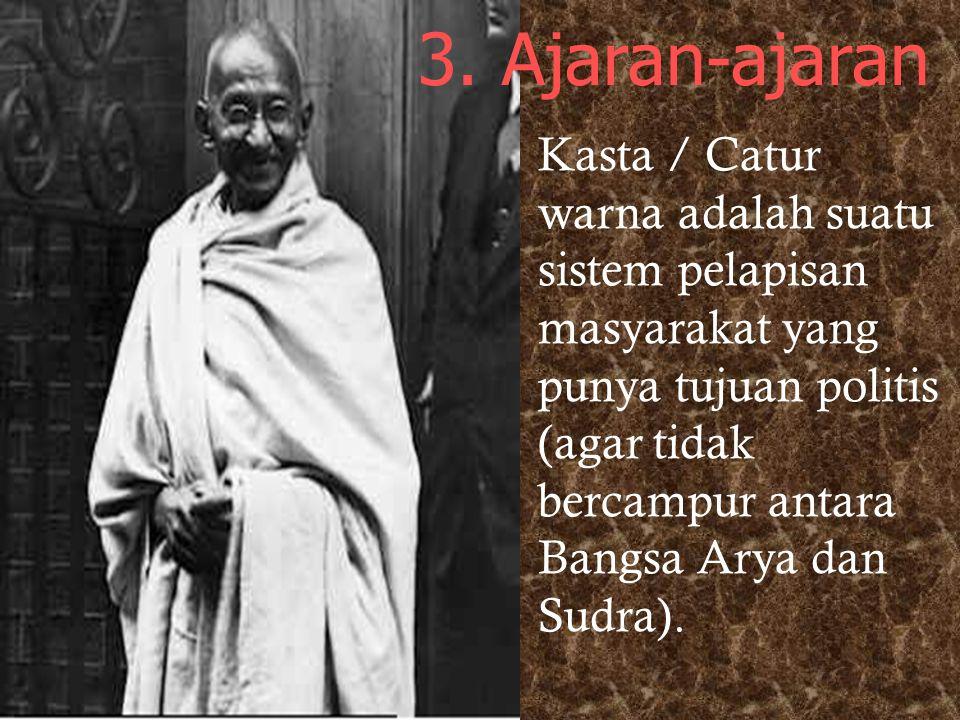 * Grhasta 2. 4 tingkatan hidup (catur asrama) yang harus dijalani umat Hindu : * Brahmacarin * Wanaprasta * Pariwrajaka 3. Melakukan Yajna Upacara kur