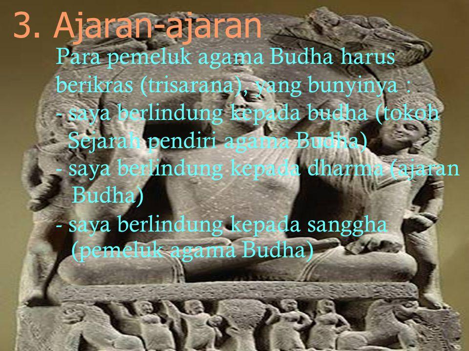1. Buddha 2. Tathagatha 4 sebutan Sidharta Gautama : 3. Jina 4. Sakyamuni