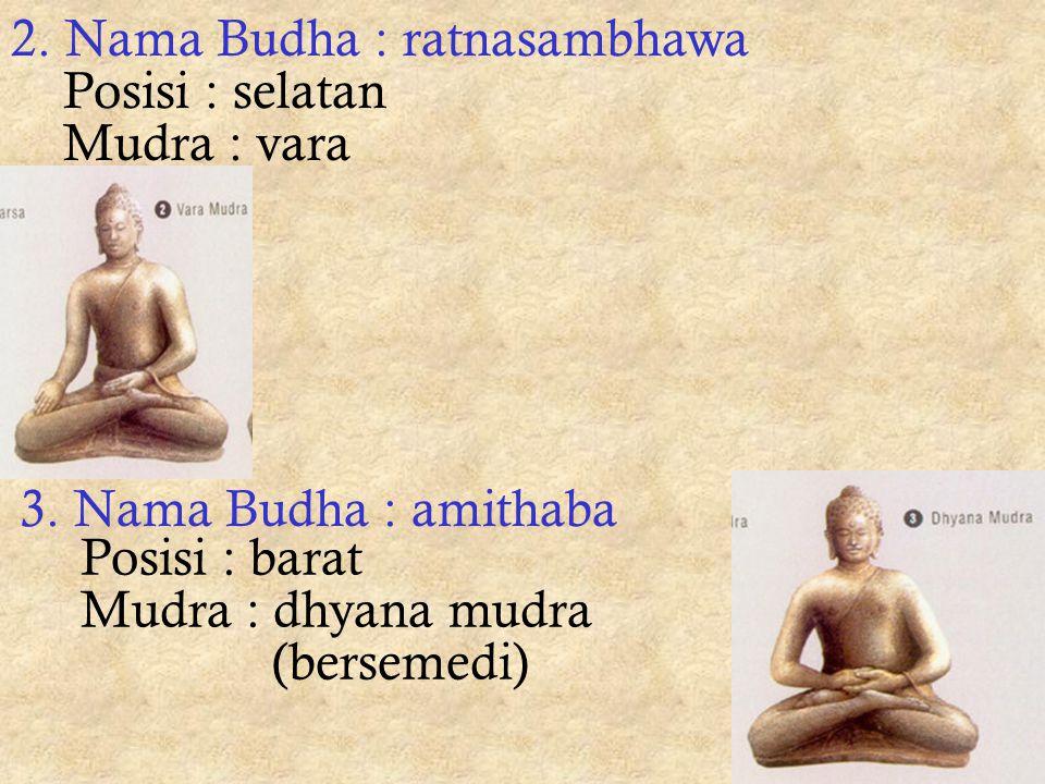 - suttapithaka Isi : wejangan-wejangan sang Budha - abhidarmapithaka Isi : keterangan dan penjelasan tentang soal - soal keagamaan 6 mudra (=posisi ta