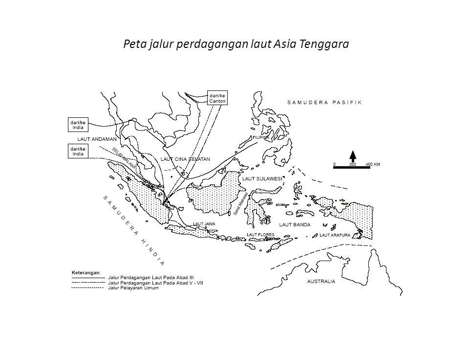 Awal abad Masehi, jalur perdagangan tidak lagi melewati jalur darat (jalur sutera) tetapi beralih kejalur laut, sehingga secara tidak langsung perdagangan antara Cina dan India melewati selat Malaka.