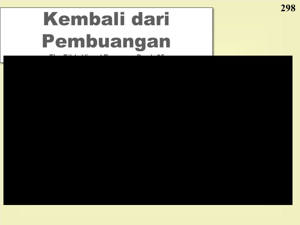 Kembali dari Pembuangan The Bible Visual Resource Book, 95 298