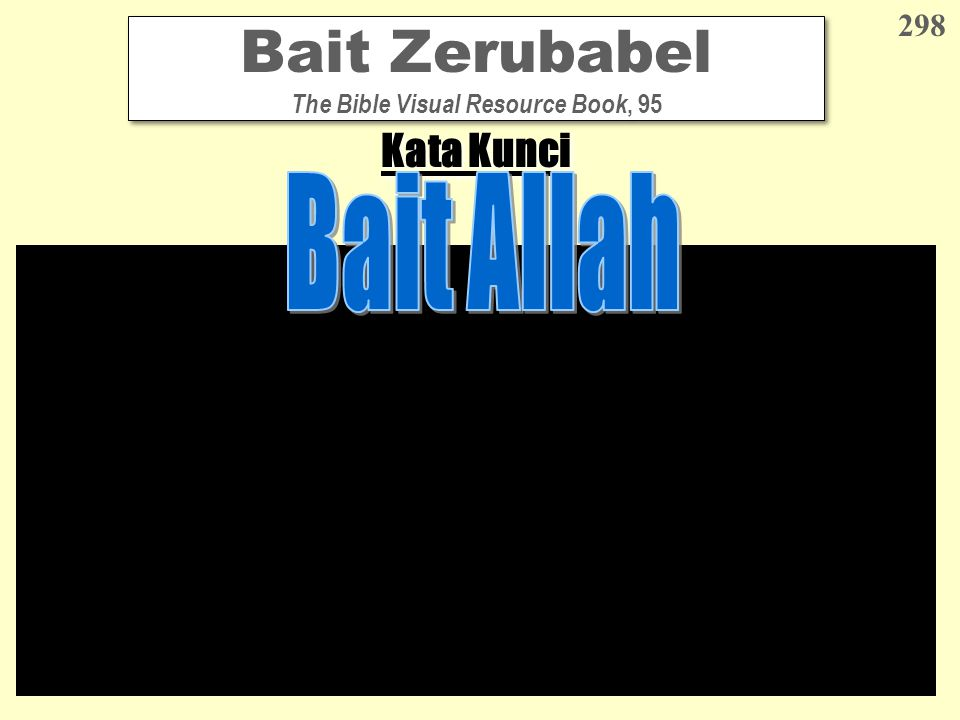 Bait Zerubabel The Bible Visual Resource Book, 95 298 Kata Kunci