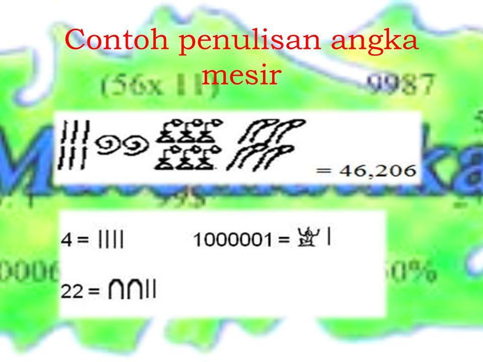 Contoh penulisan angka mesir