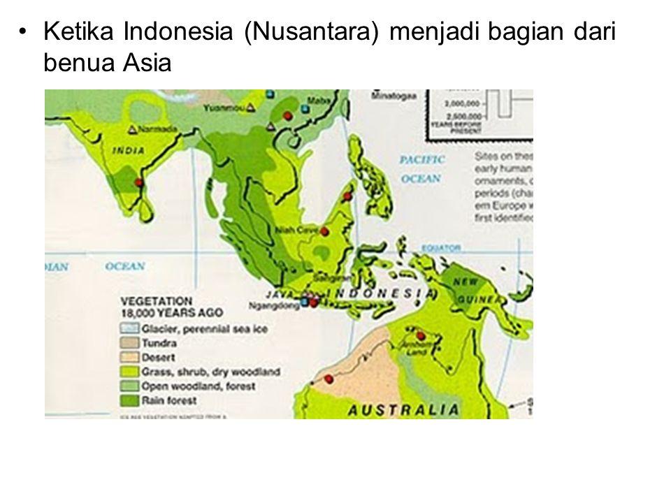 Ketika Indonesia (Nusantara) menjadi bagian dari benua Asia