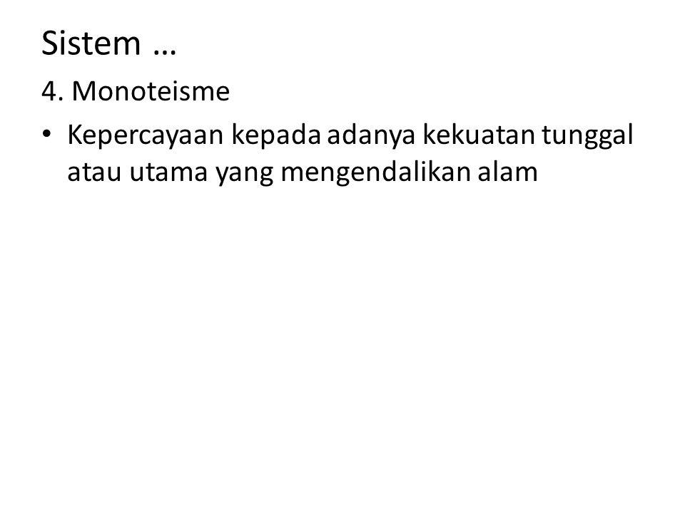Sistem … 4.