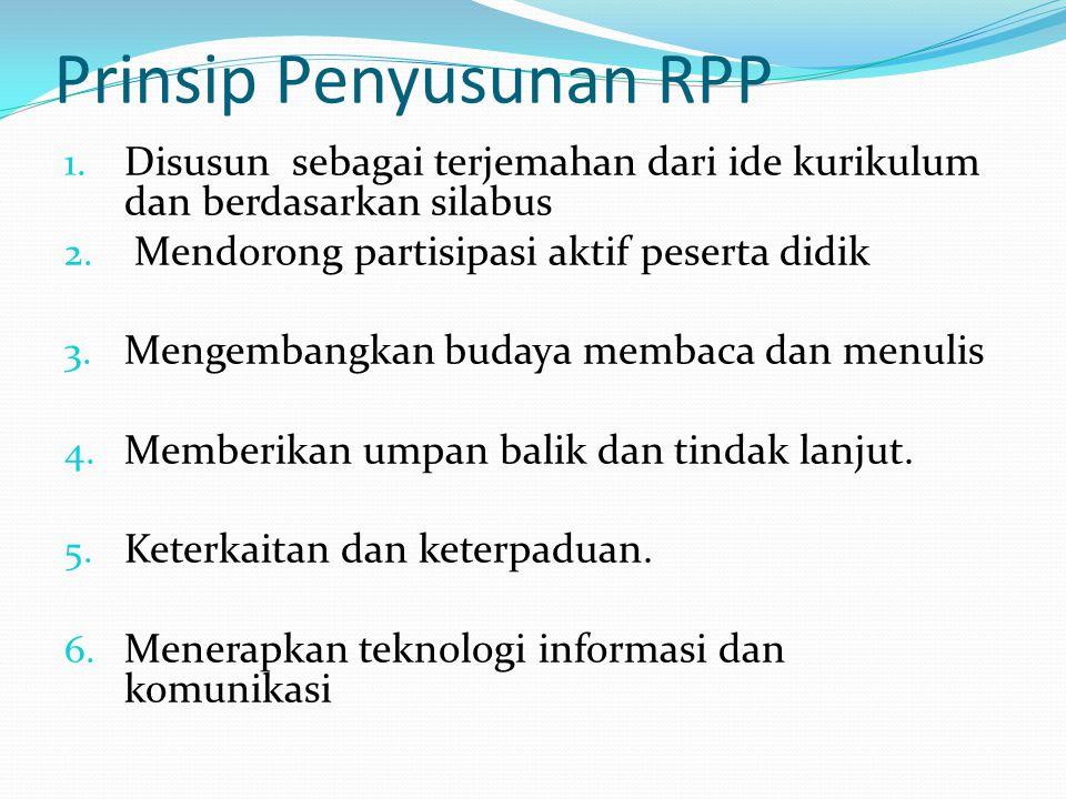 Format RPP RENCANA PELAKSANAAN PEMBELAJARAN (RPP) SMP : Matapelajaran : Kelas/Semester: Materi Pokok : Alokasi Waktu : A.
