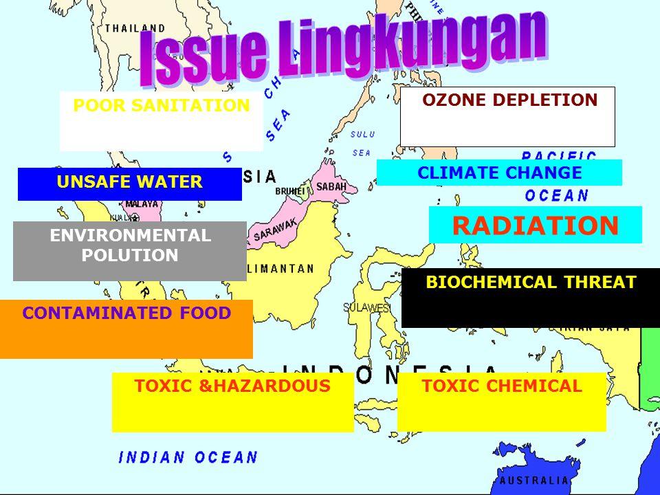 UUPERLINDUNGAN DAN PENGELOLAAN LINGKUNGAN HIDUP No 32 Tahun 2009 : Pencemaran lingkungan hidup adalah masuk atau dimasukkannya makhluk hidup, zat, energi,dan/atau komponen lain ke dalam lingkungan hidup oleh kegiatan manusia sehingga melampaui baku mutu lingkungan