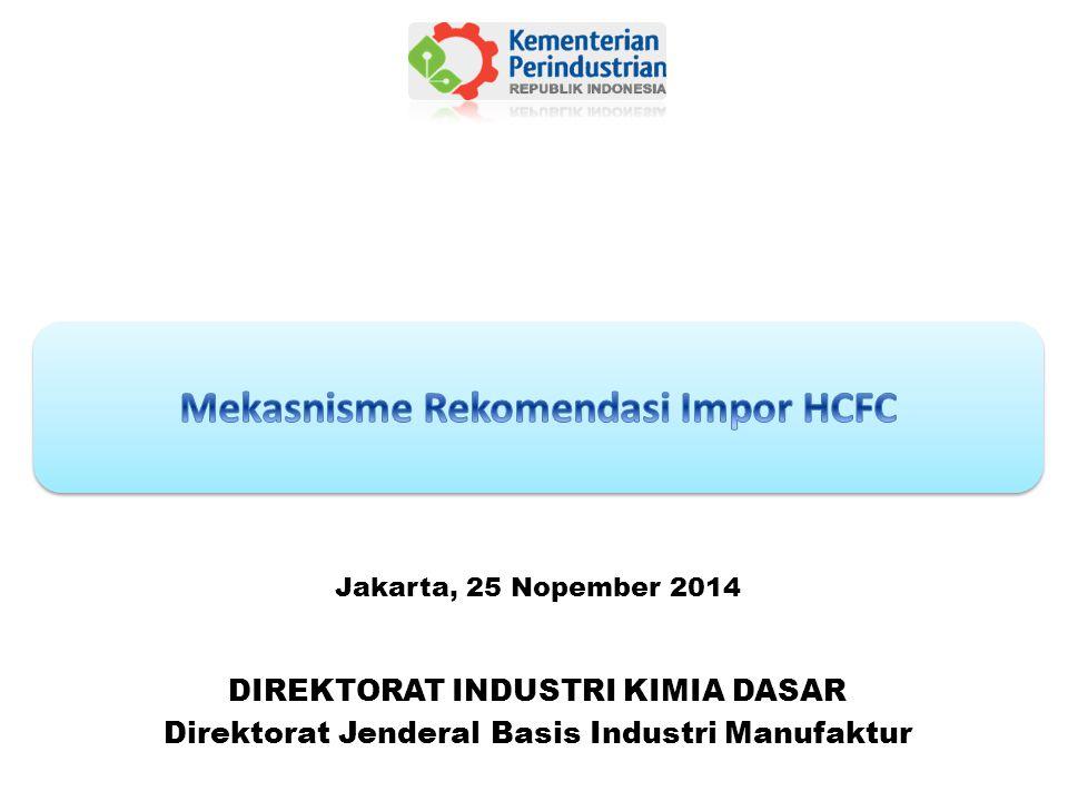 DIREKTORAT INDUSTRI KIMIA DASAR Direktorat Jenderal Basis Industri Manufaktur Jakarta, 25 Nopember 2014