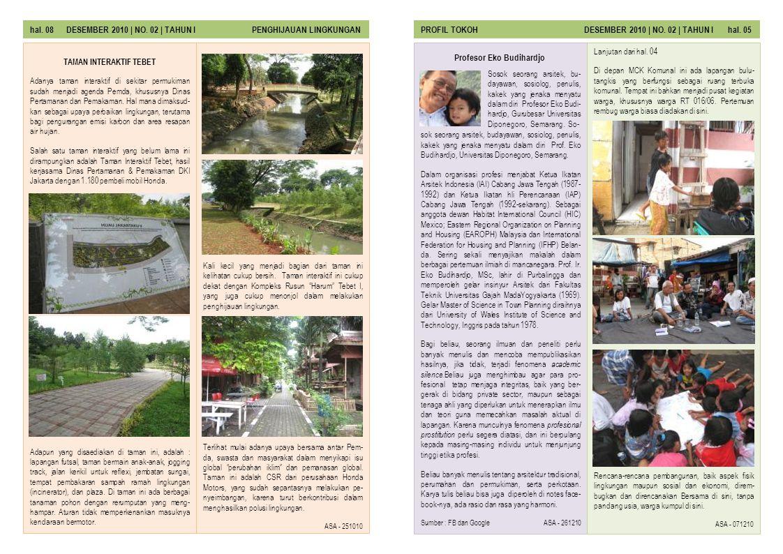 hal.06 DESEMBER 2010 | NO. 01 | TAHUN I JURNAL UTAMAJURNAL UTAMA DESEMBER 2010 | NO.