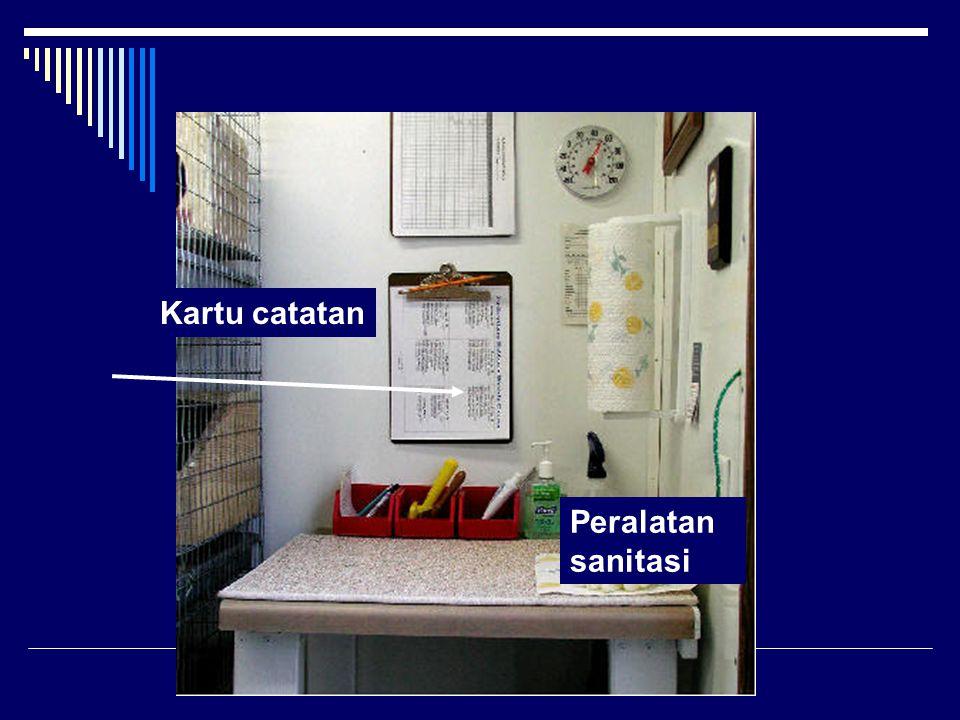 Kartu catatan Peralatan sanitasi