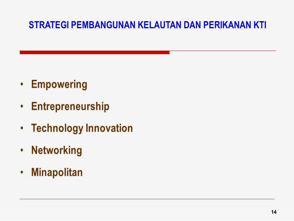 14 Empowering Entrepreneurship Technology Innovation Networking Minapolitan STRATEGI PEMBANGUNAN KELAUTAN DAN PERIKANAN KTI
