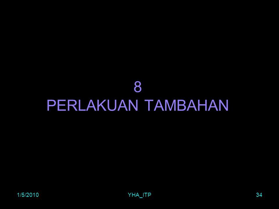 1/5/2010YHA_ITP34 8 PERLAKUAN TAMBAHAN