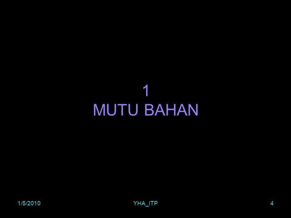 1/5/2010YHA_ITP4 1 MUTU BAHAN