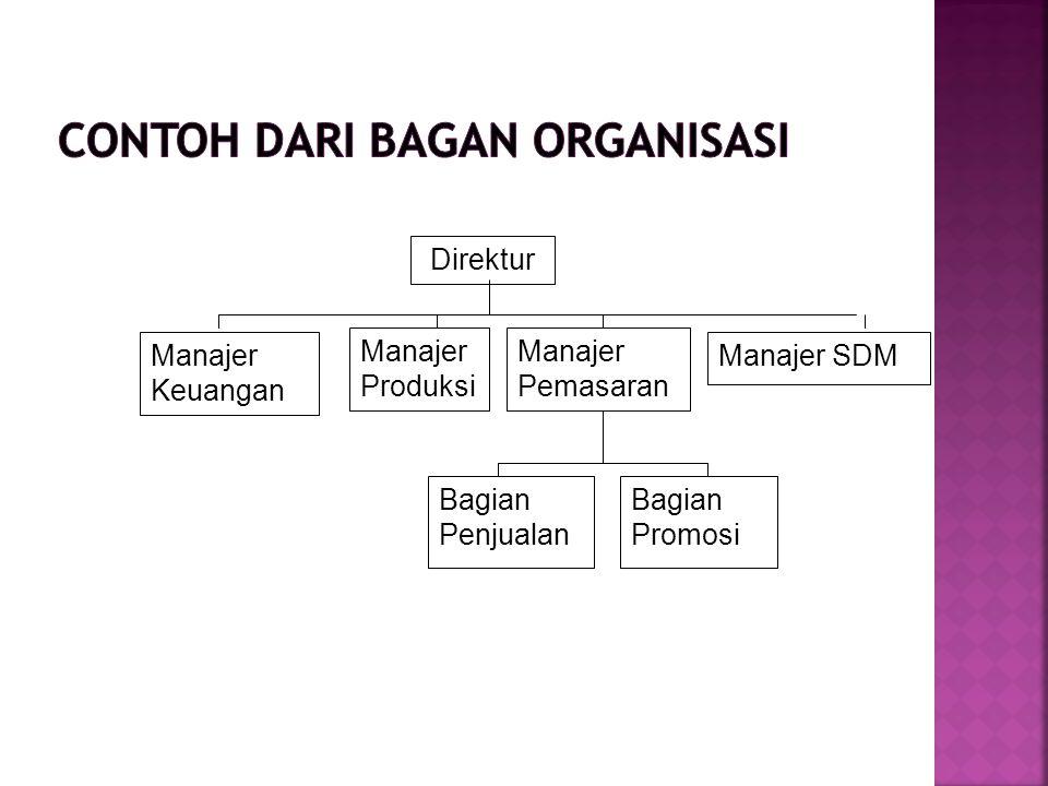 Direktur Manajer Produksi Manajer Pemasaran Manajer SDMManajer Keuangan Bagian Penjualan Bagian Promosi