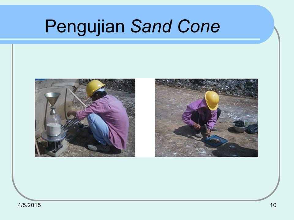 4/5/201510 Pengujian Sand Cone