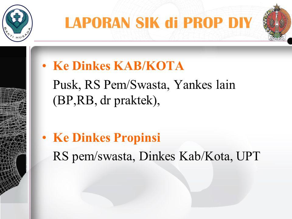 1 RSUD 19 PUSKESMAS 1 RS SWSTA 1 BP 1 RB 1 DOKTER PRAKTEK SWSTA Dinkes Kab/Kota & Propinsi PROTOPYPE 2005-2006
