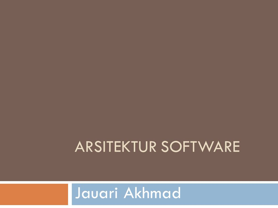 The Middle of the Road  It is the role of the software architect to design the structures of the software such that those critical requirements are satisfied.