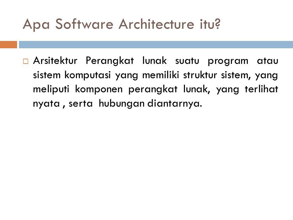 Apa Software Architecture itu.