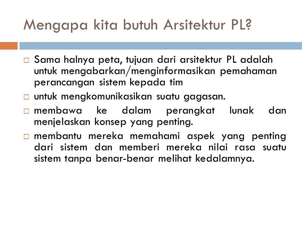 Mengapa kita butuh Arsitektur PL.