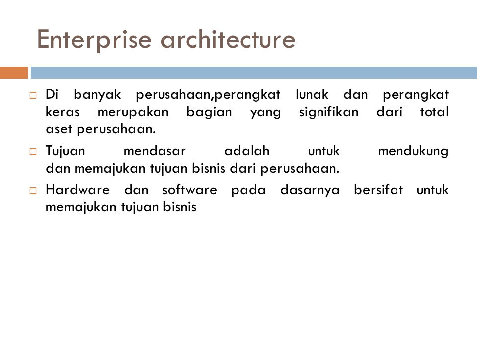 Creating a Software Architecture: An Example Before the architects started, they created a checklist of principles they would strive to follow while they created the architecture: 1.