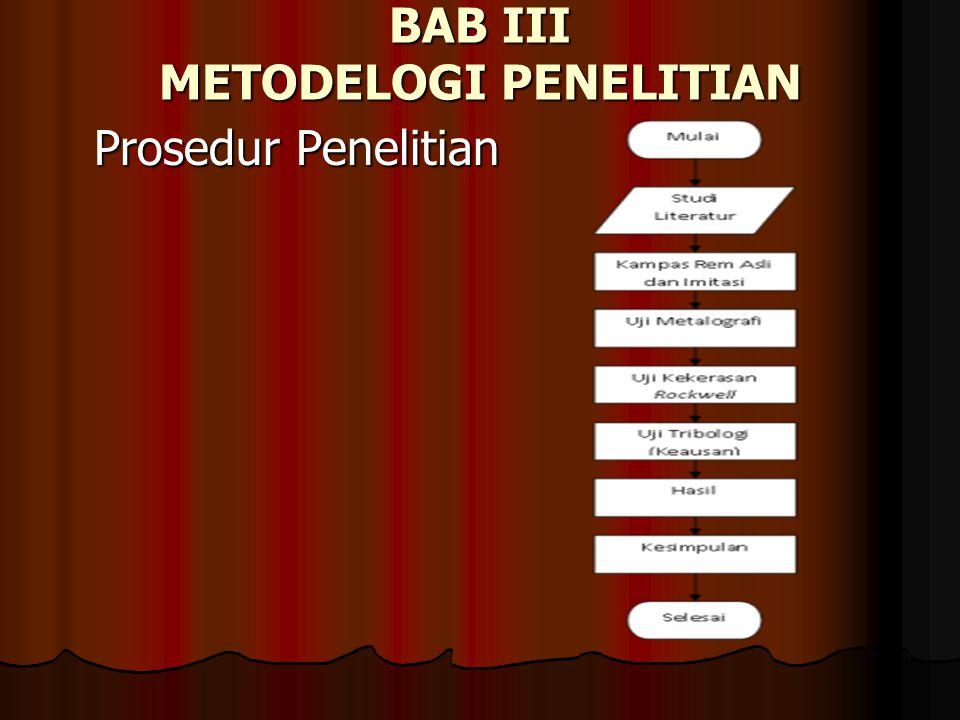 BAB III METODELOGI PENELITIAN Prosedur Penelitian