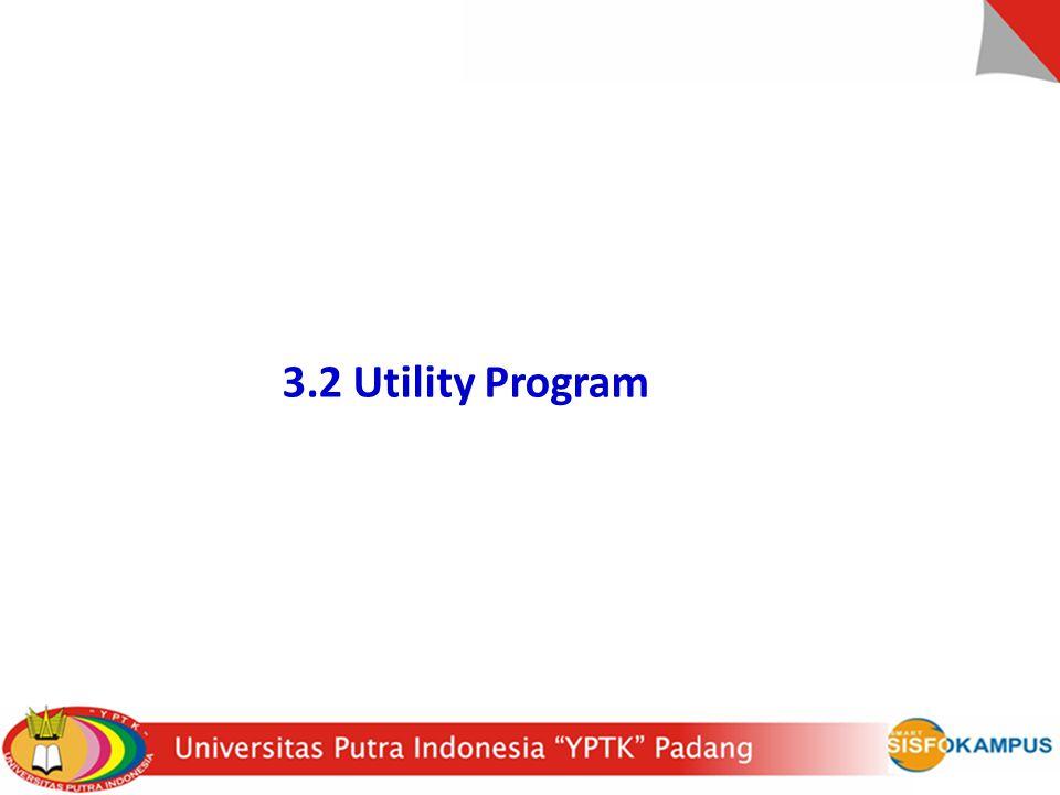 3.2 Utility Program